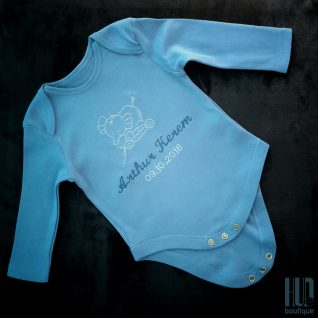 Personalized Baby Bodysuit – Custom Embroidered Cotton Patches (Newborn – 18 months)-0