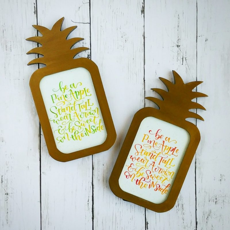 'Stand Tall like a Pineapple' Typography Frame - Sunset Orange-0