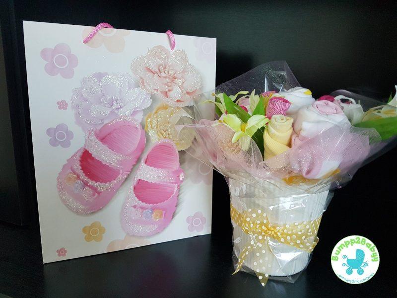 Baby Girl Diaper Cake Gift with Teddy Bear-2200