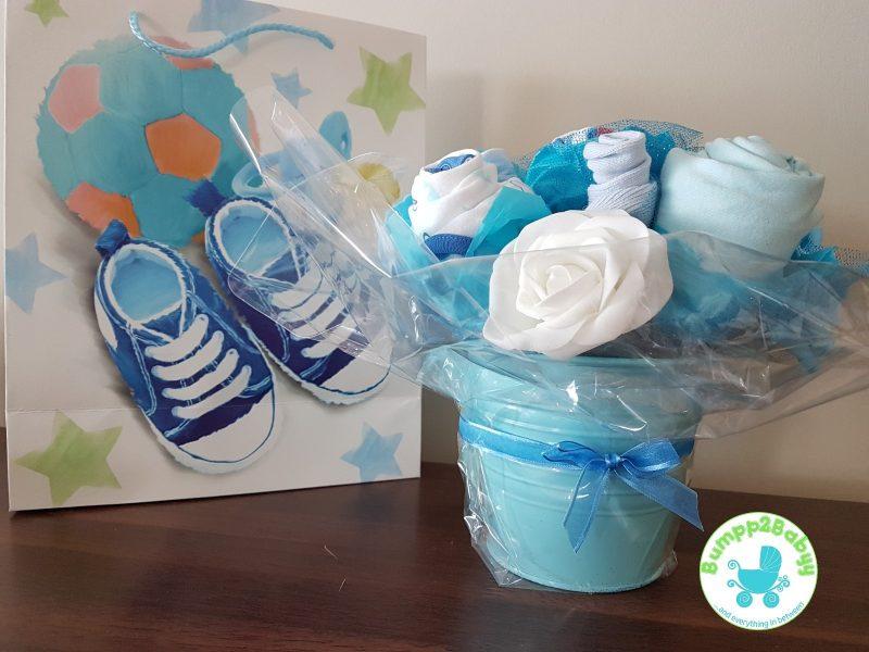 Baby Girl Diaper Cake Gift with Teddy Bear-2201