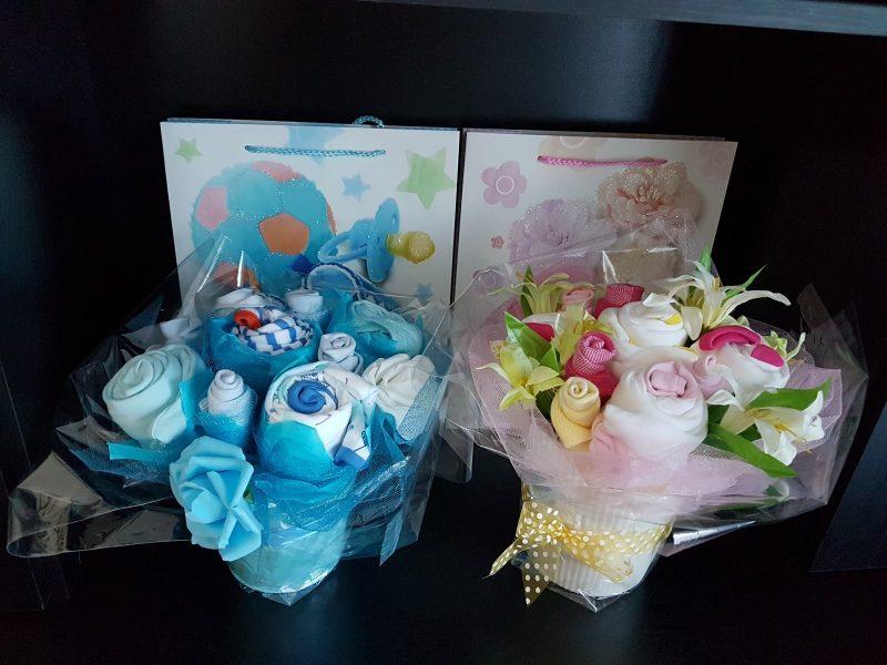 Baby Girl Diaper Cake Gift with Teddy Bear-2202