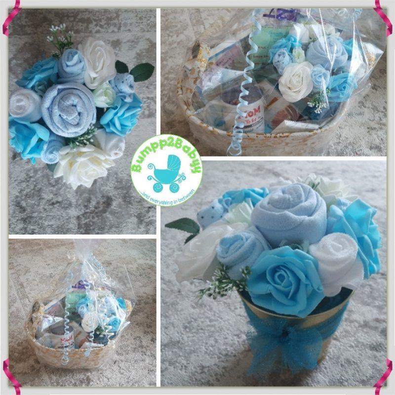 Baby Girl Diaper Cake Gift with Teddy Bear-2203