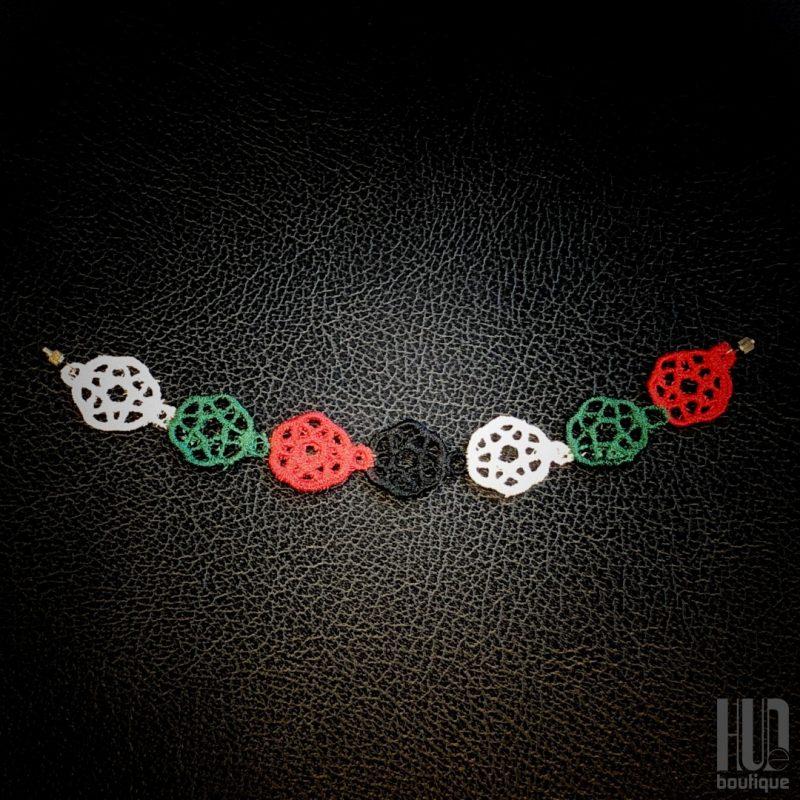 Embroidered UAE Flag Bracelet-2004