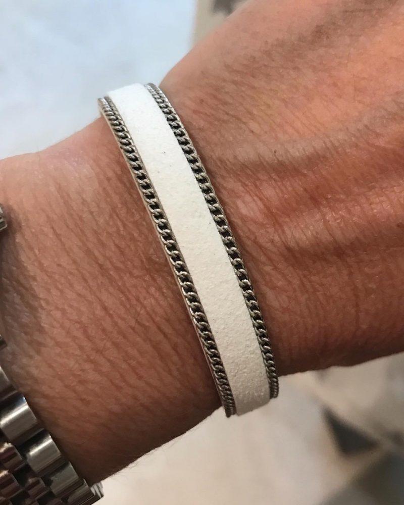 Faux Suede Fashion Bracelet-0
