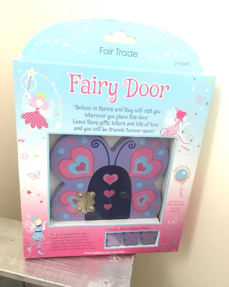Wooden Fairy Door - Butterfly-0