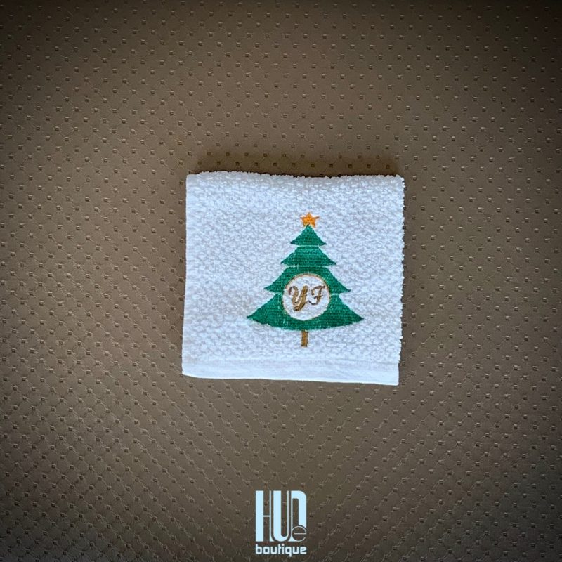 Personalized Embroidered Christmas Towels - set of 2-2805