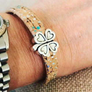 Natural cork bracelet-0