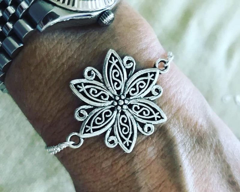 Oversized flower bracelet-0