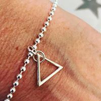 Sterling Silver Triangle Bracelet-0