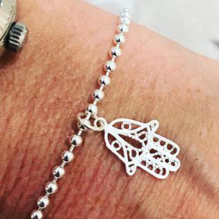 Sterling silver Fatima hand bracelet-0