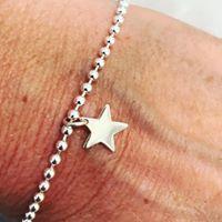 Sterling Silver Star Bracelet-0