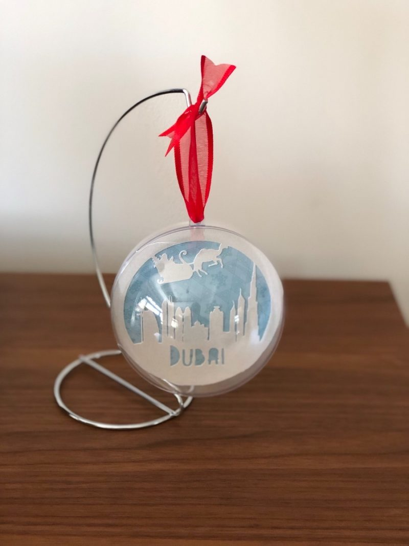 Christmas in the UAE bauble-2794