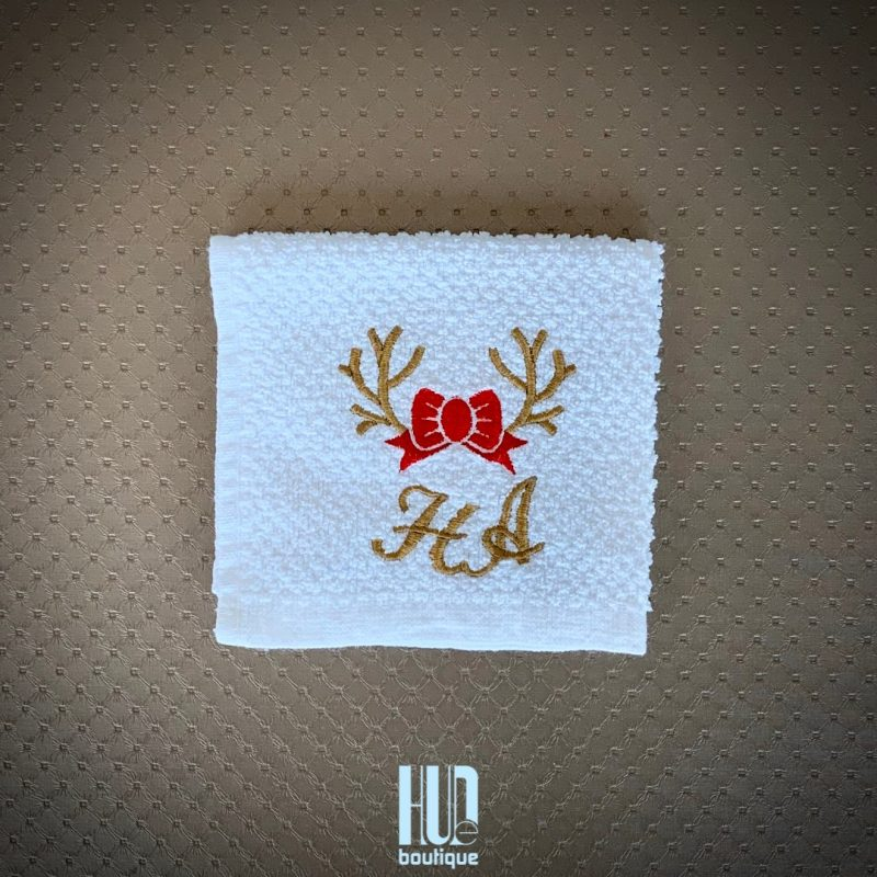 Personalized Embroidered Christmas Towels - set of 2-2808