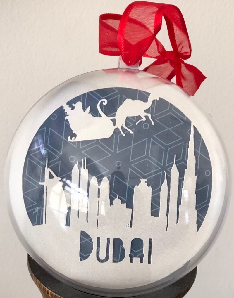 Christmas in the UAE bauble-2796