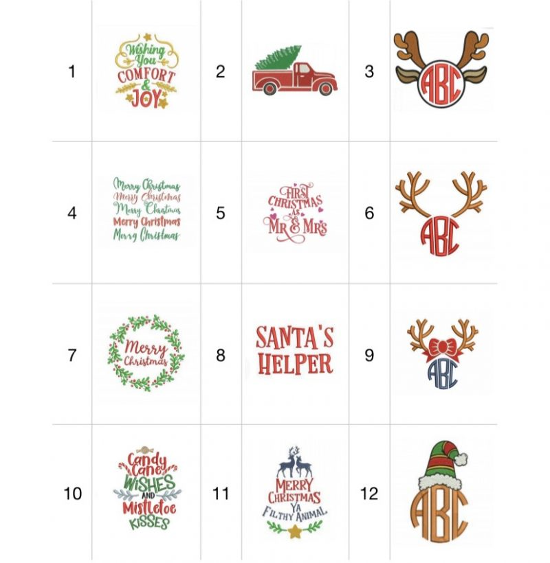Personalized Embroidered Kitchen Towels for Christmas-3028