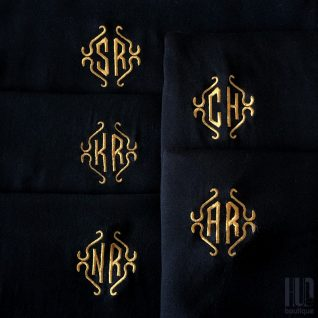 Custom Embroidery Monogramed Scarf-0