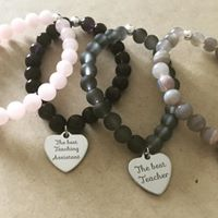 Gemstone Thank you Bracelets-0