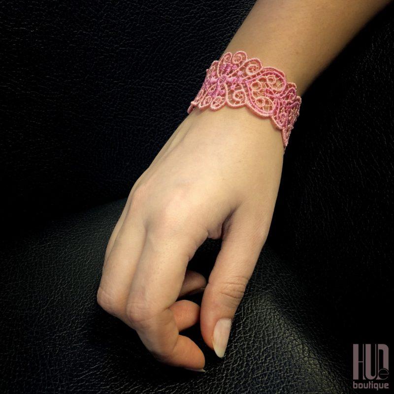 Handmade Embroidered Bracelet, Gift for her-2055