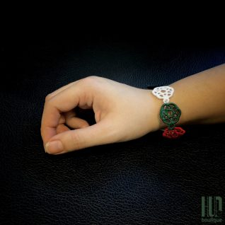 Embroidered UAE Flag Bracelet-0