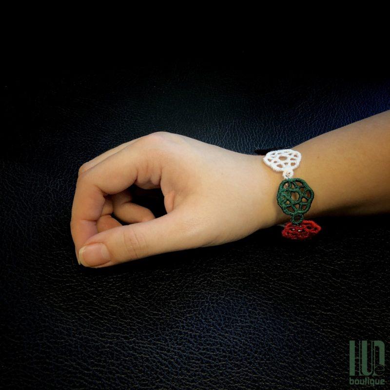 Embroidered UAE Flag Bracelet-0