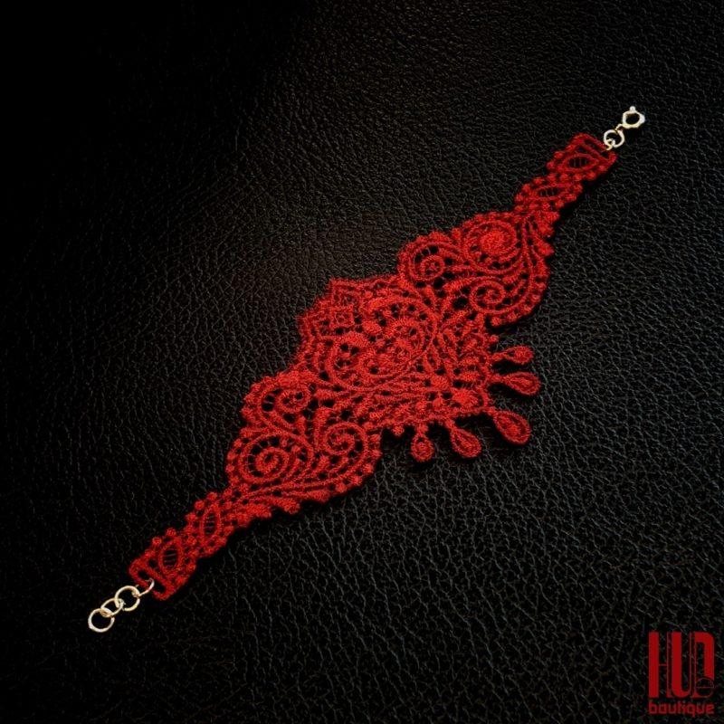 Handmade Embroidered Bracelet, Gift for her-2049