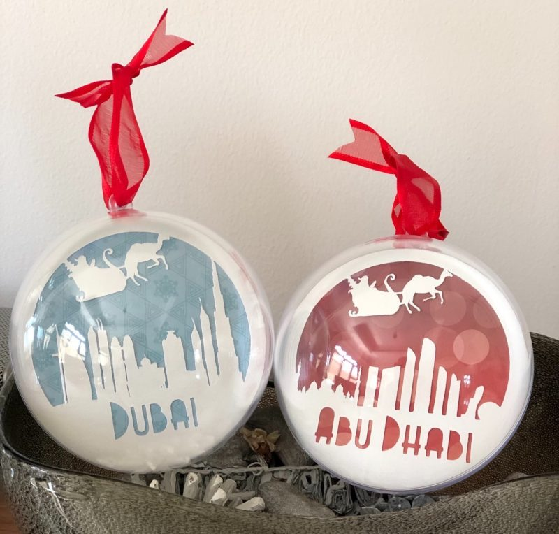 Christmas in the UAE bauble-0
