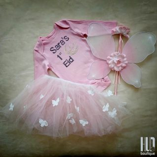 My first Eid Outfit | Butterfly Dress Up Set of 4| Suitable for 6 months to 3 years old-0