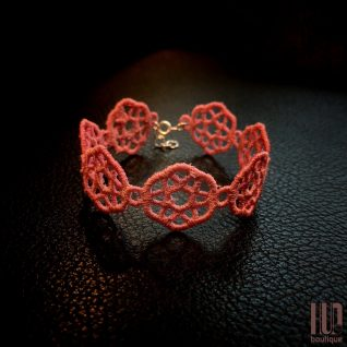 Handmade Embroidered Bracelet, Gift for her-0