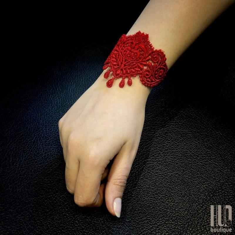 Handmade Embroidered Bracelet, Gift for her-2050