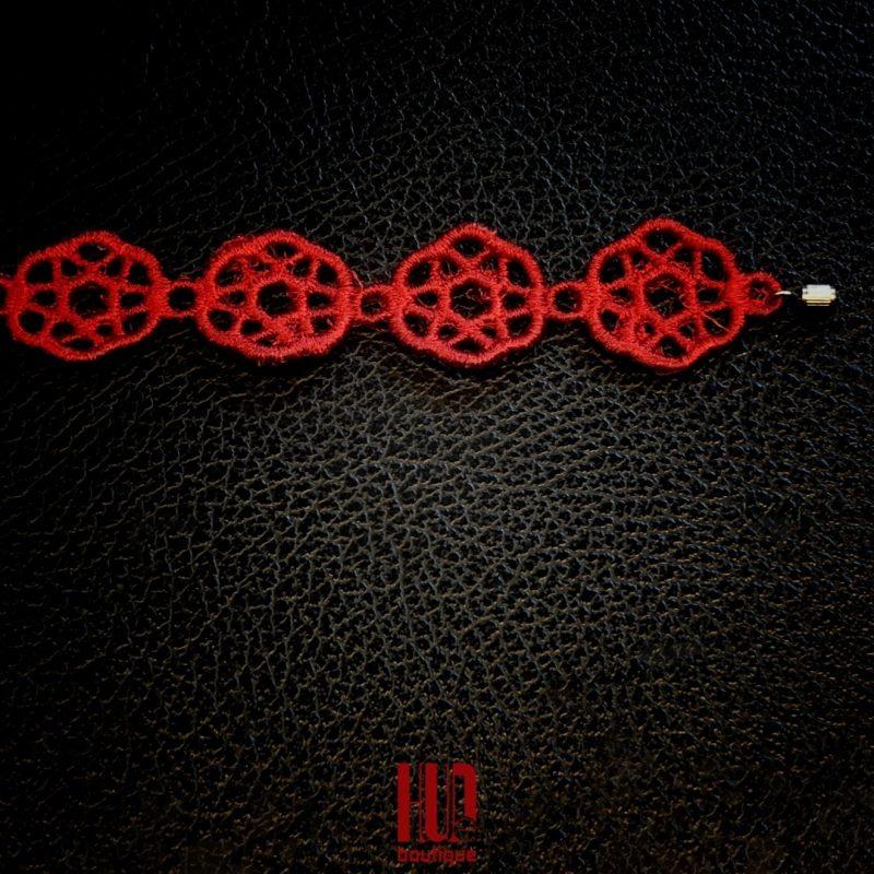 Handmade Embroidered Bracelet, Gift for her-2061