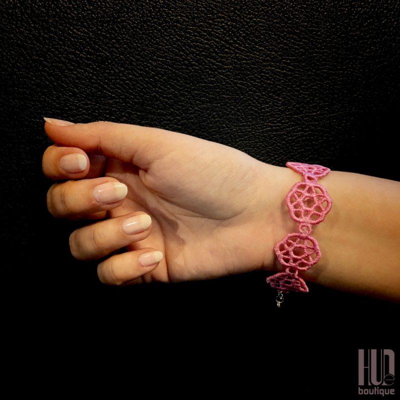 Handmade Embroidered Bracelet, Gift for her-2060