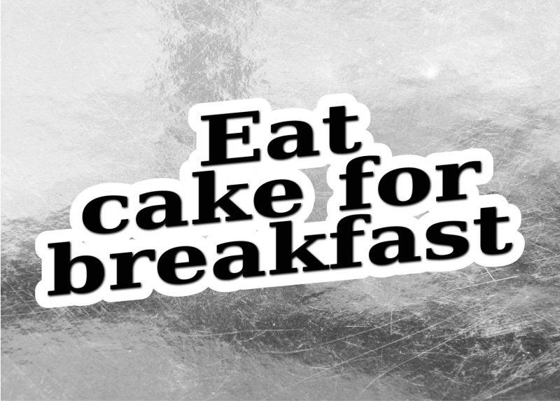 Typography - Eat cake-0