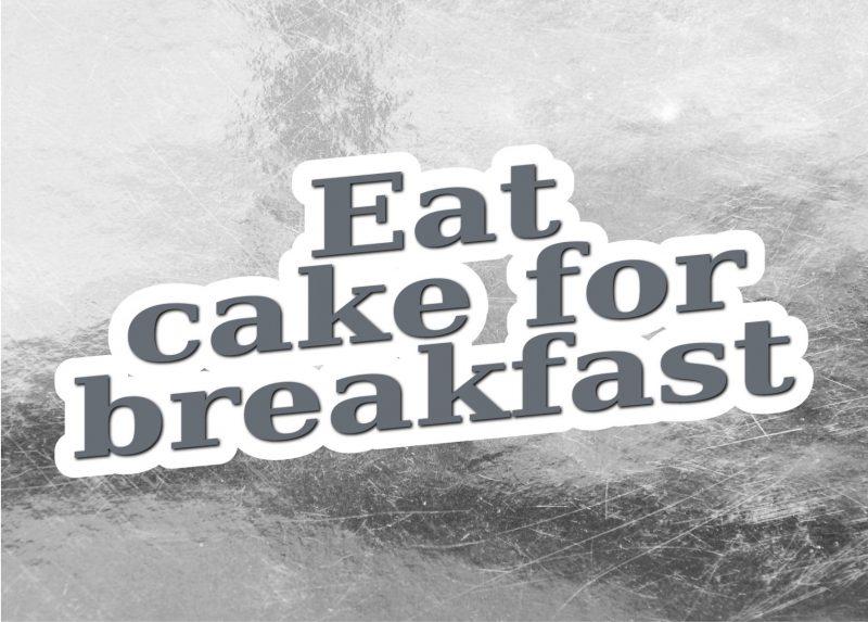Typography - Eat cake-1986