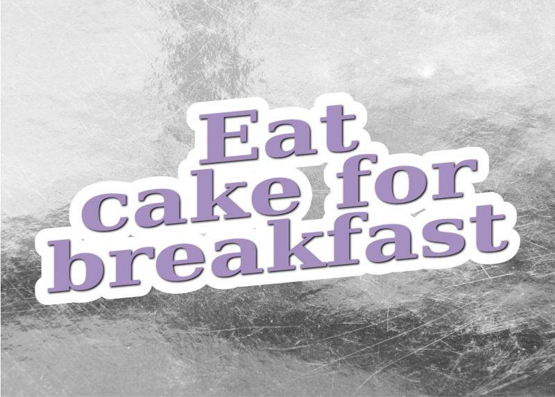Typography - Eat cake-1987