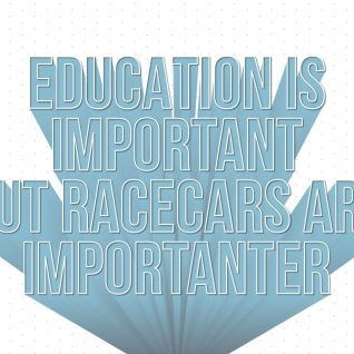 Typography - Education is important-Framed A4 print-Black-0