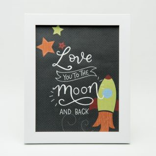 'Love you to the moon' Typography Frame-0