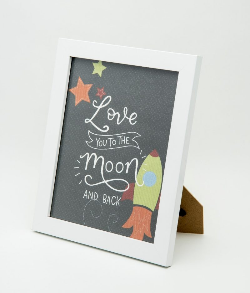 'Love you to the moon' Typography Frame-2308