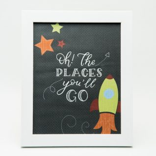 'Oh the Places you'll go' Typography Frame-0
