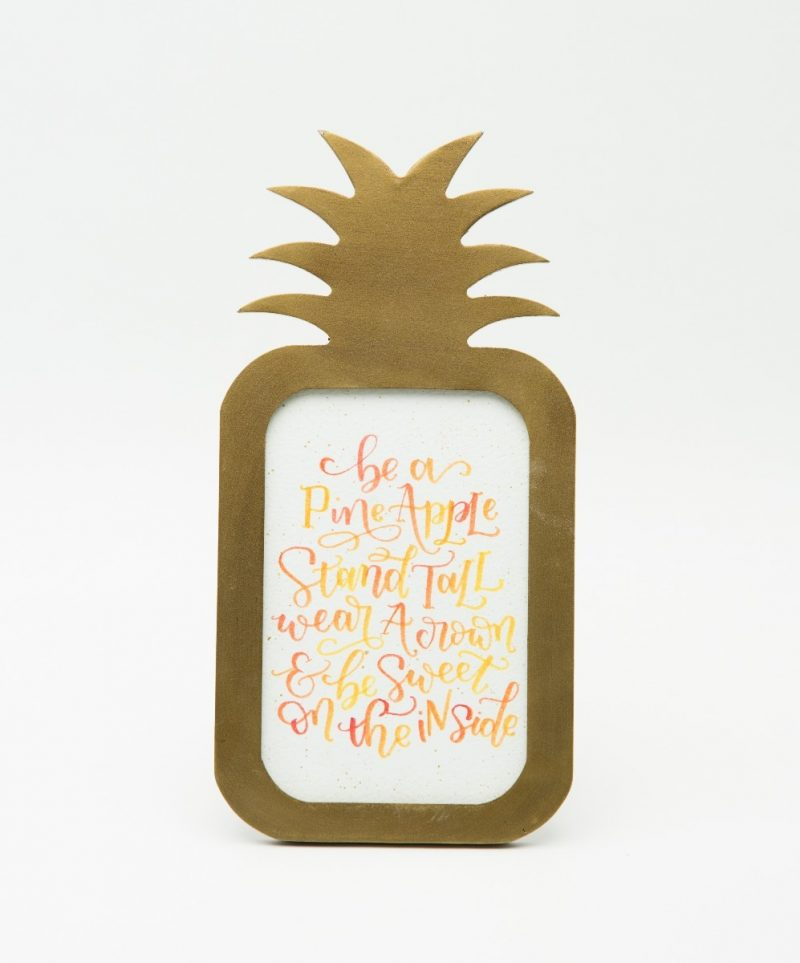 'Stand Tall like a Pineapple' Typography Frame - Sunset Orange-2303