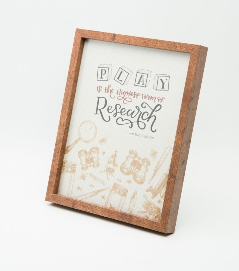 'Play is the highest form of Research' Typography Frame-2295