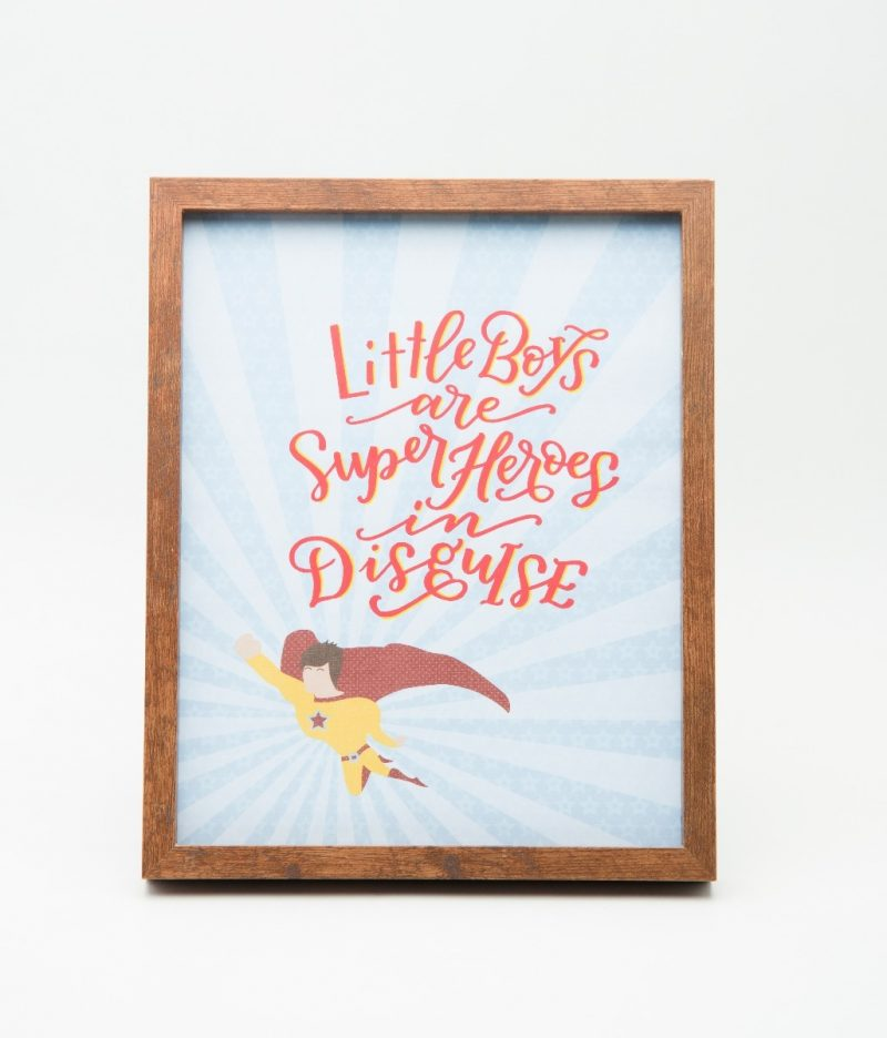 Little Boys are Superheroes Typography Frame-2276