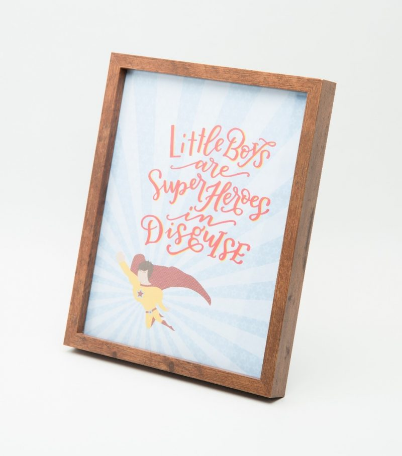Little Boys are Superheroes Typography Frame-2277
