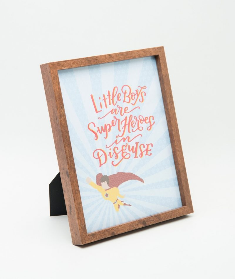 Little Boys are Superheroes Typography Frame-2278