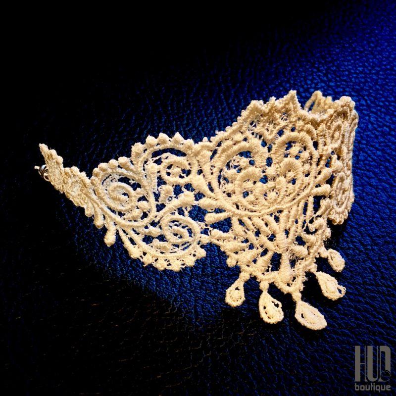 Handmade Embroidered Bracelet, Gift for her-2052