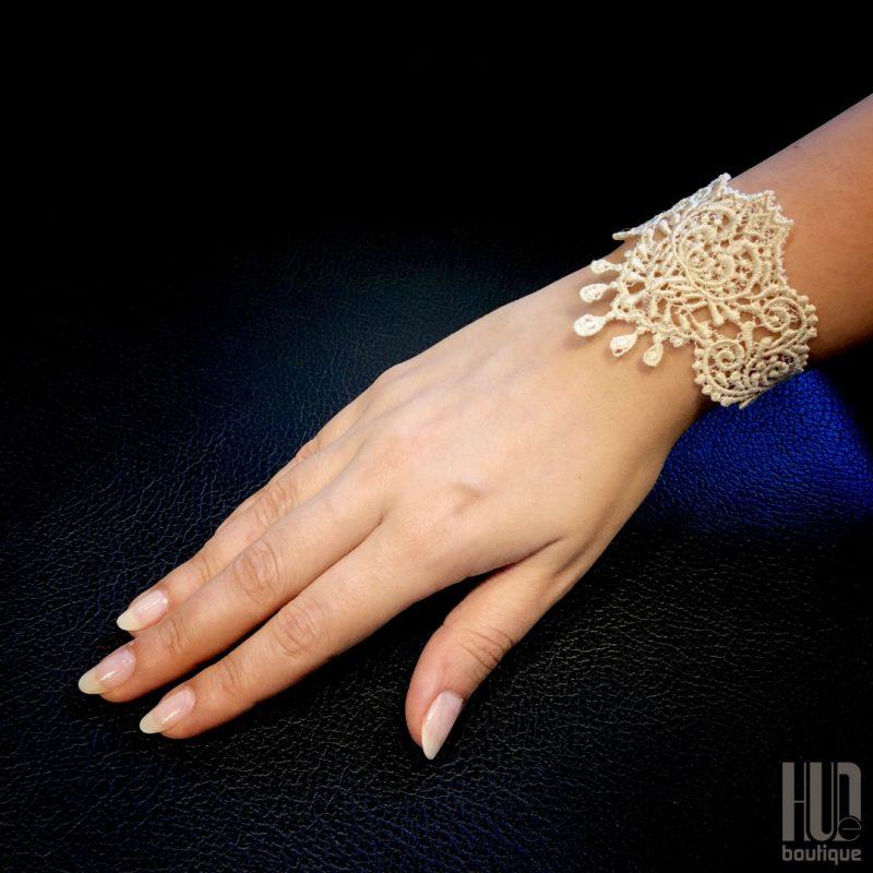 Handmade Embroidered Bracelet, Gift for her-2053