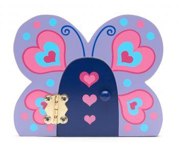 Wooden Fairy Door - Butterfly-2218