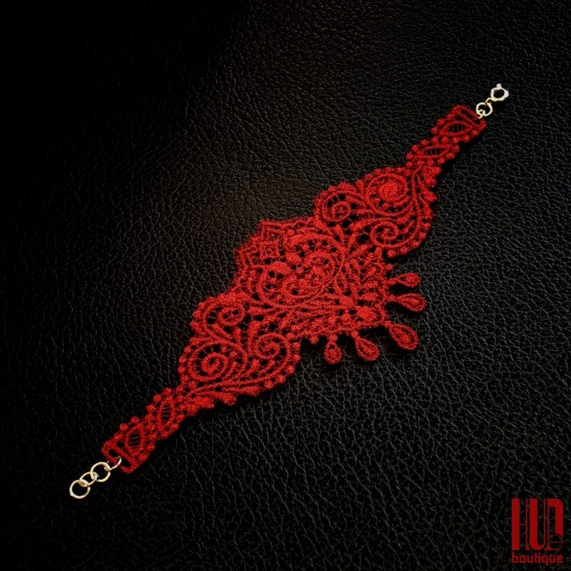 Valentines Day New Collection - Embroidered Bracelet for Her-2214