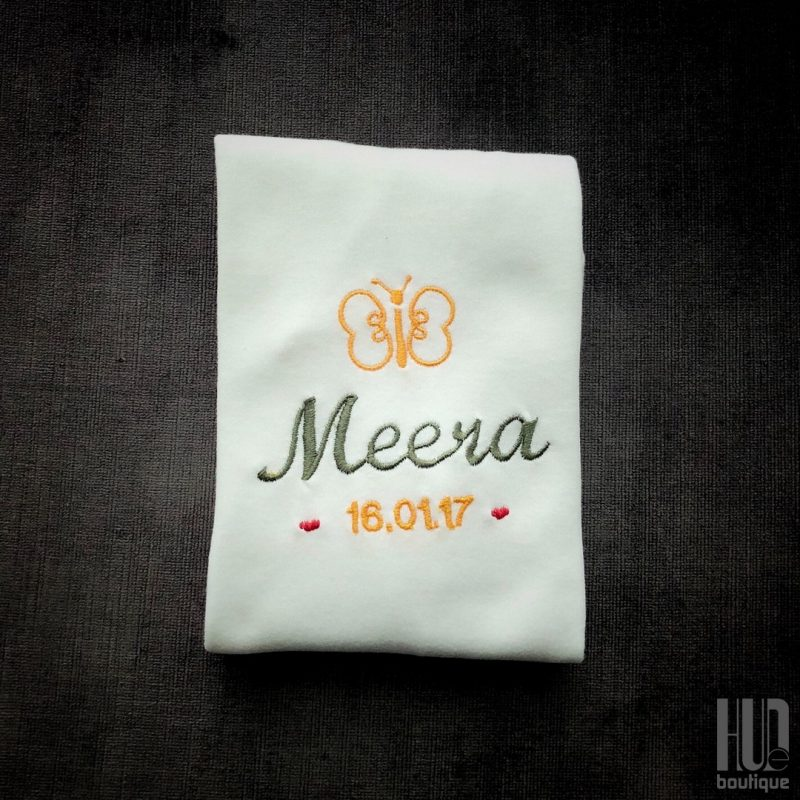 Personalized Baby Bodysuit – Custom Embroidered Cotton Patches (Newborn – 18 months)-2176
