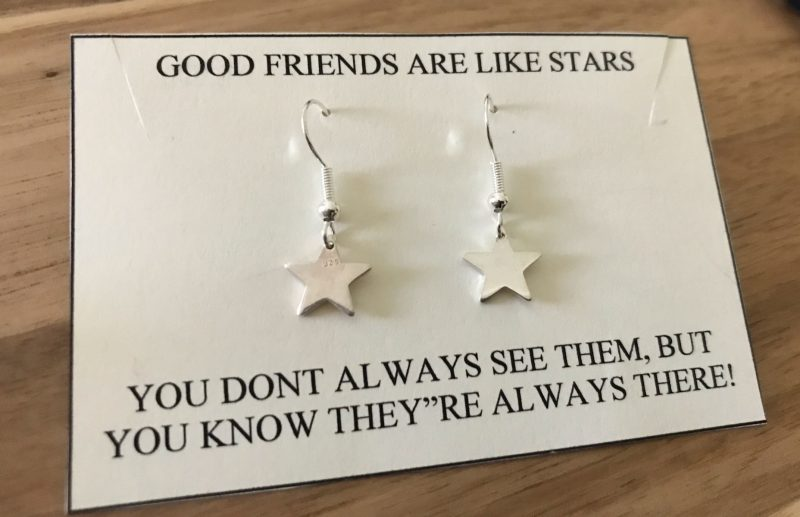 Sterling Silver Star Earrings-0