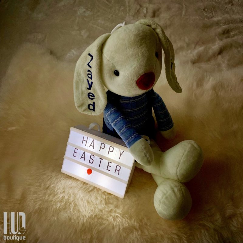 Personalized Embroidered Easter Bunny-2553
